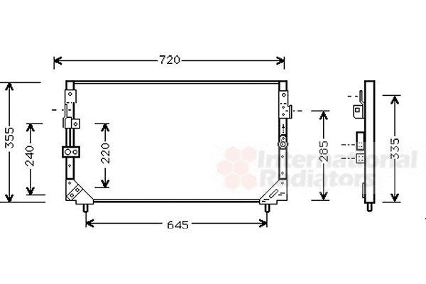 Condenseur, climatisation - VAN WEZEL - 53005225
