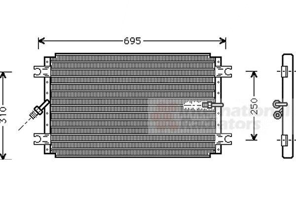 Condenseur, climatisation - VAN WEZEL - 53005243
