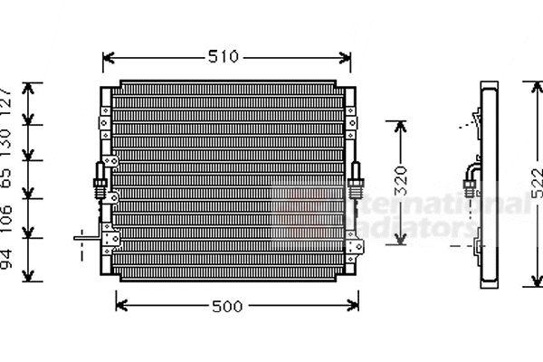 Condenseur, climatisation - VAN WEZEL - 53005244