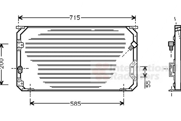 Condenseur, climatisation - VAN WEZEL - 53005246