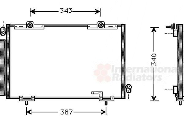 Condenseur, climatisation - VAN WEZEL - 53005250