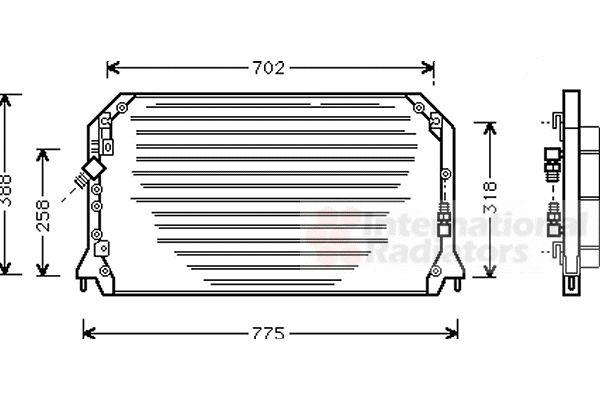 Condenseur, climatisation - VAN WEZEL - 53005253