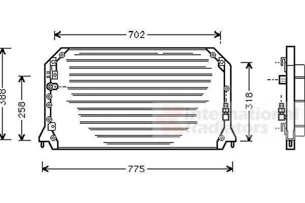 Condenseur, climatisation - VAN WEZEL - 53005254
