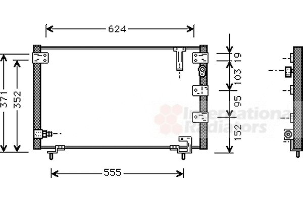 Condenseur, climatisation - VAN WEZEL - 53005262