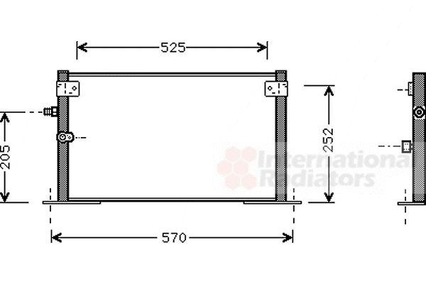 Condenseur, climatisation - VAN WEZEL - 53005265