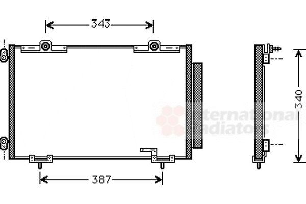 Condenseur, climatisation - VAN WEZEL - 53005266