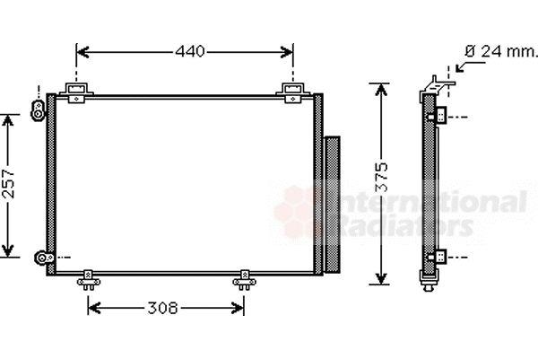 Condenseur, climatisation - VAN WEZEL - 53005267