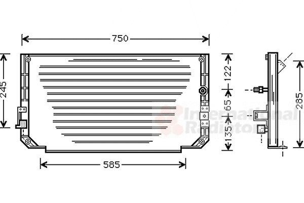 Condenseur, climatisation - VAN WEZEL - 53005271