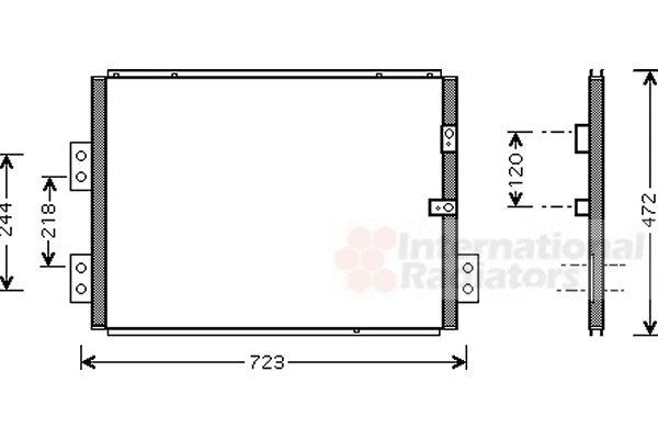 Condenseur, climatisation - VAN WEZEL - 53005277