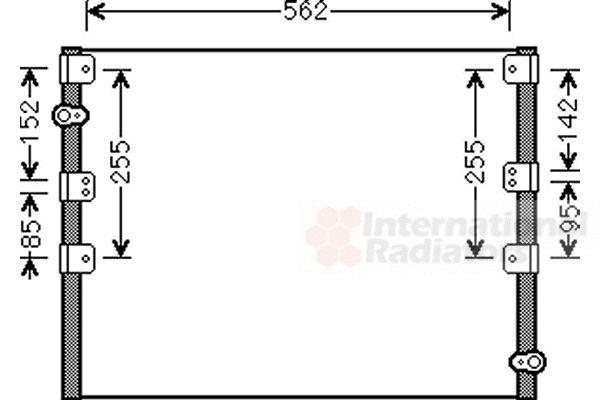 Condenseur, climatisation - VAN WEZEL - 53005278