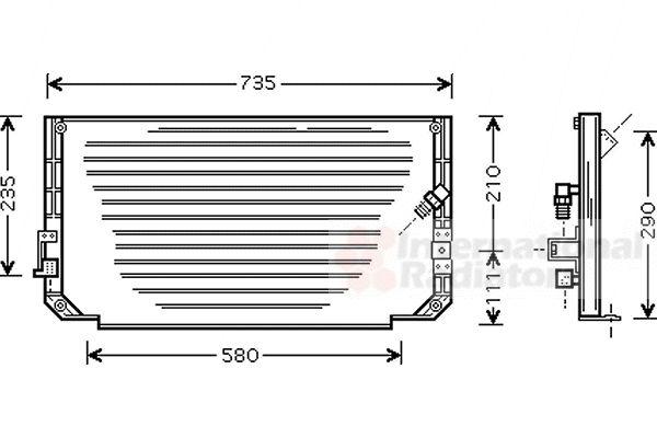 Condenseur, climatisation - VAN WEZEL - 53005279