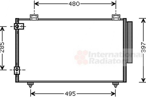 Condenseur, climatisation - VWA - 88VWA53005286