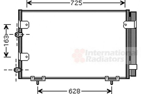 Condenseur, climatisation - VAN WEZEL - 53005288