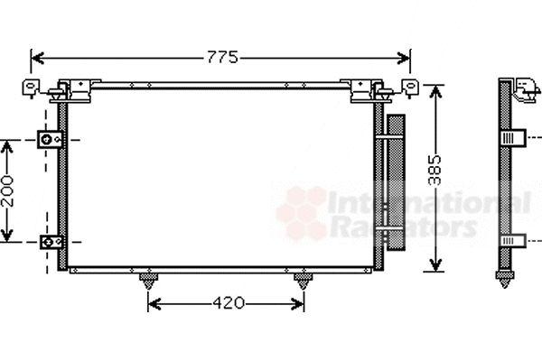 Condenseur, climatisation - VAN WEZEL - 53005319