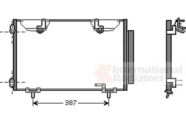 Condenseur, climatisation - VAN WEZEL - 53005327