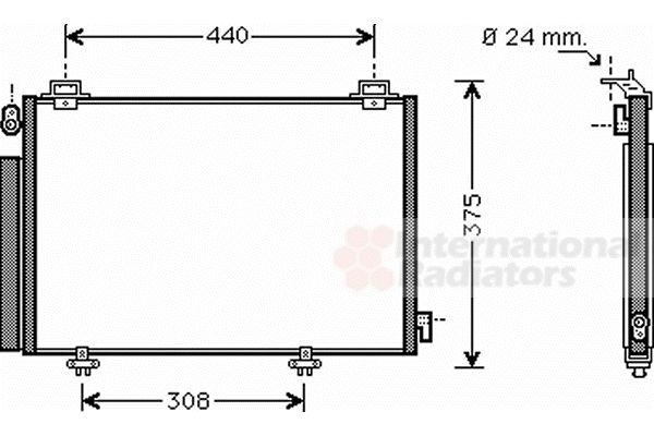 Condenseur, climatisation - VAN WEZEL - 53005382