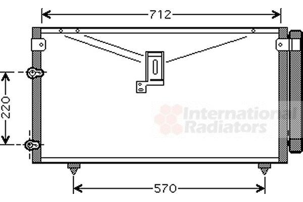 Condenseur, climatisation - VAN WEZEL - 53005383