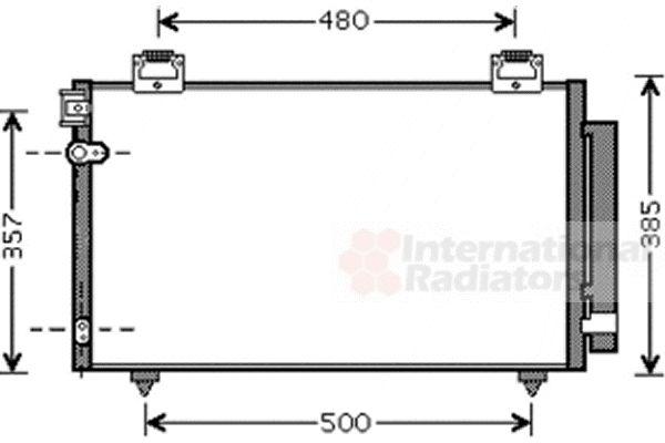 Condenseur, climatisation - VAN WEZEL - 53005392