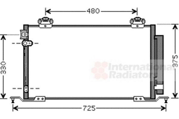 Condenseur, climatisation - VAN WEZEL - 53005393
