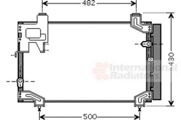 Condenseur, climatisation - VAN WEZEL - 53005394