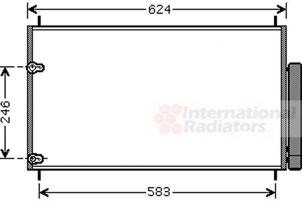 Condenseur, climatisation - VAN WEZEL - 53005405