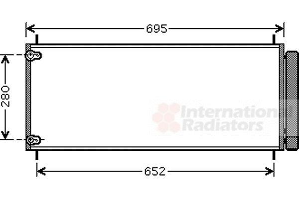 Condenseur, climatisation - VAN WEZEL - 53005406