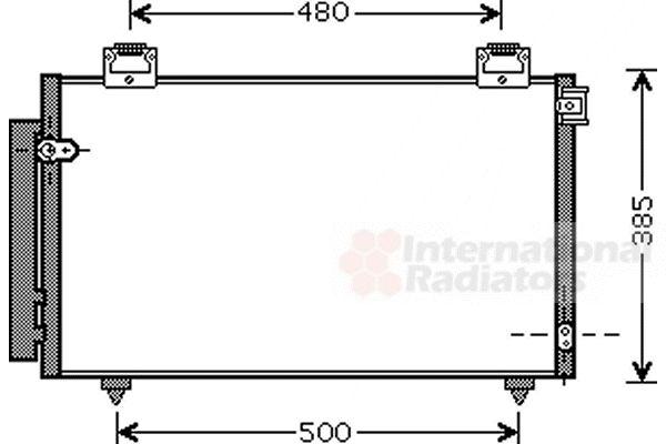 Condenseur, climatisation - VAN WEZEL - 53005408