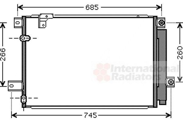 Condenseur, climatisation - VAN WEZEL - 53005409