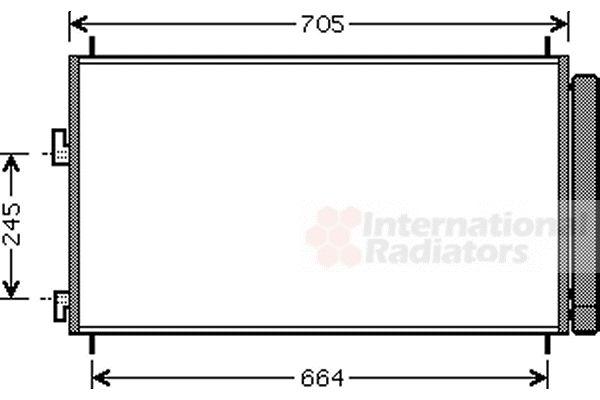 Condenseur, climatisation - VAN WEZEL - 53005410