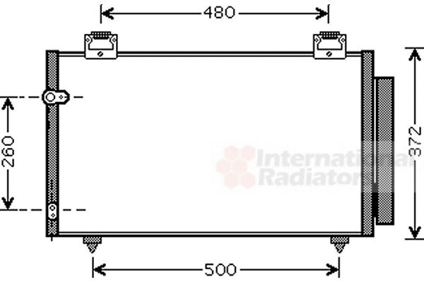 Condenseur, climatisation - VAN WEZEL - 53005411