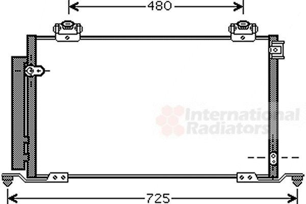 Condenseur, climatisation - VAN WEZEL - 53005412