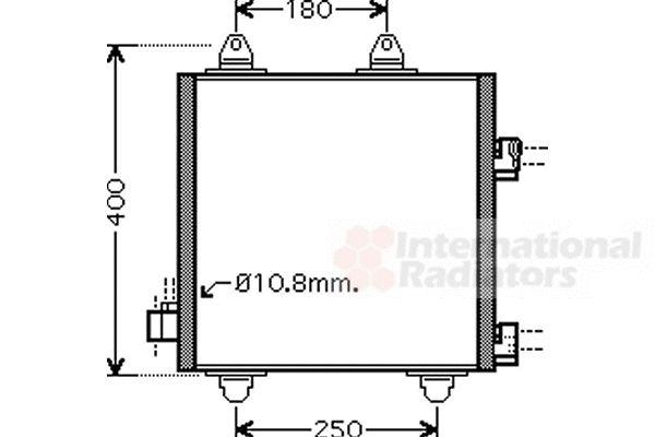Condenseur, climatisation - VAN WEZEL - 53005414