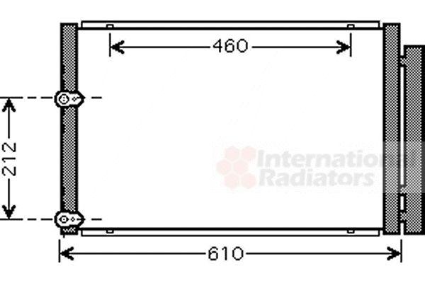 Condenseur, climatisation - VAN WEZEL - 53005429