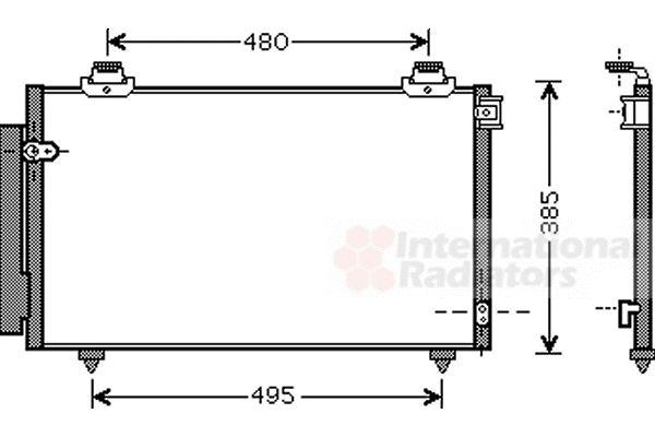 Condenseur, climatisation - VAN WEZEL - 53005431