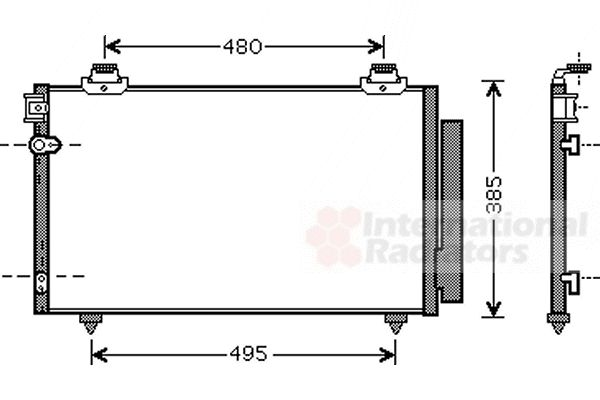 Condenseur, climatisation - VAN WEZEL - 53005481