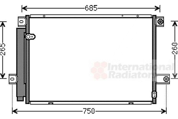Condenseur, climatisation - VAN WEZEL - 53005559