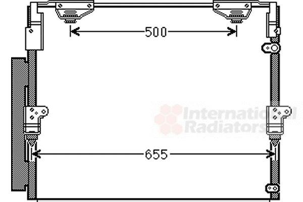 Condenseur, climatisation - VAN WEZEL - 53005560