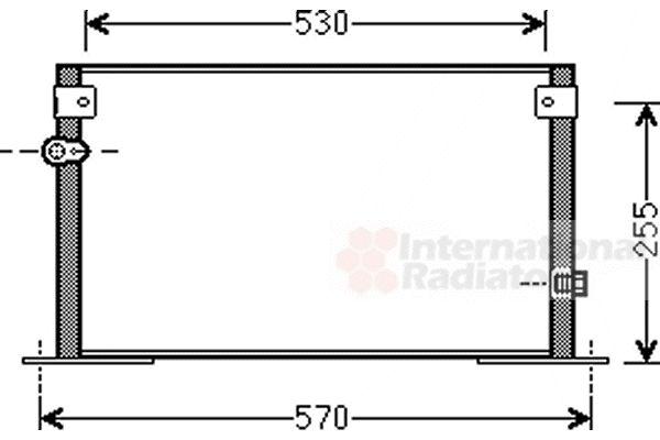 Condenseur, climatisation - VAN WEZEL - 53005562