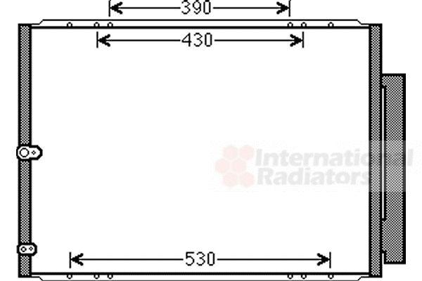 Condenseur, climatisation - VAN WEZEL - 53005568