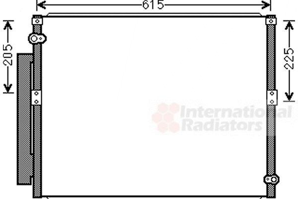 Condenseur, climatisation - VAN WEZEL - 53005569