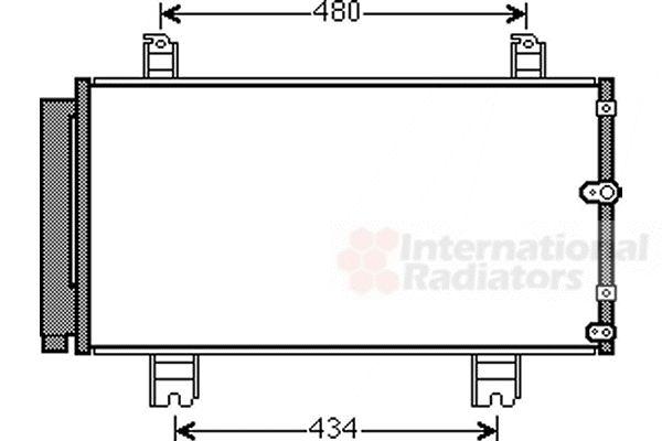 Condenseur, climatisation - VAN WEZEL - 53005572
