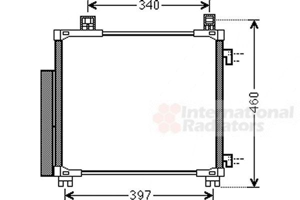 Condenseur, climatisation - VAN WEZEL - 53005578