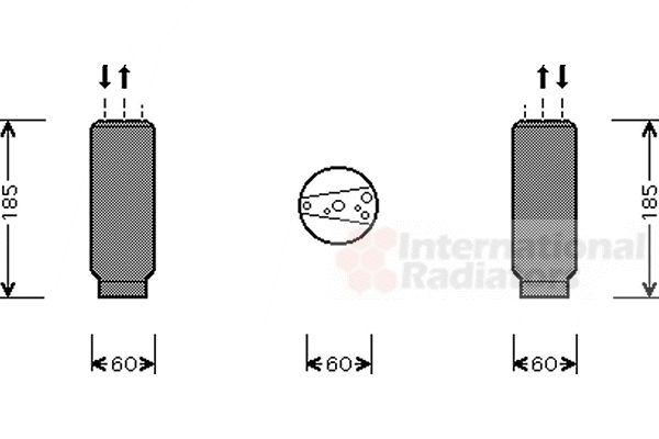 Filtre déshydratant, climatisation - VAN WEZEL - 5300D005