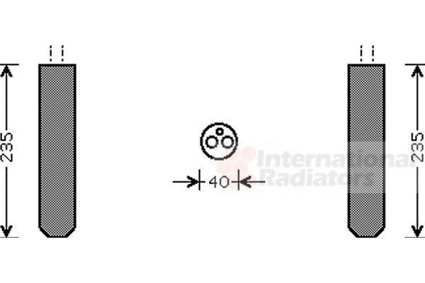 Filtre déshydratant, climatisation - VAN WEZEL - 5300D017