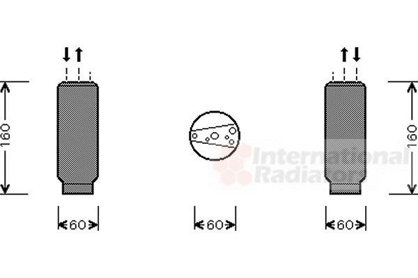 Filtre déshydratant, climatisation - VAN WEZEL - 5300D024