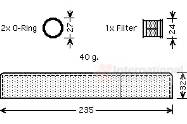 Filtre déshydratant, climatisation - VWA - 88VWA5300D349