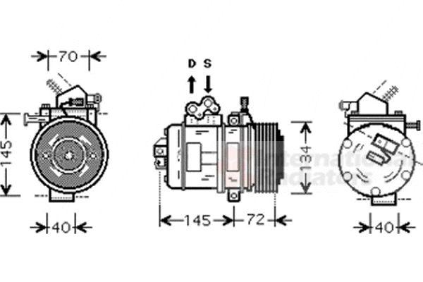 Compresseur, climatisation - VAN WEZEL - 5300K388