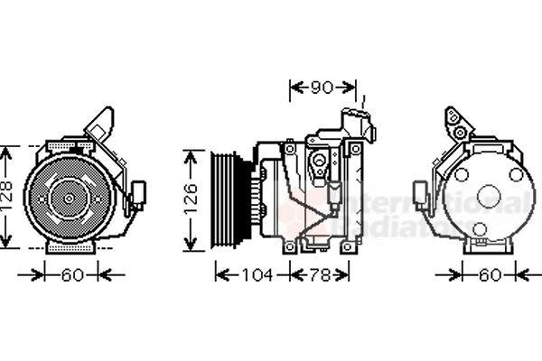 Compresseur, climatisation - VAN WEZEL - 5300K437