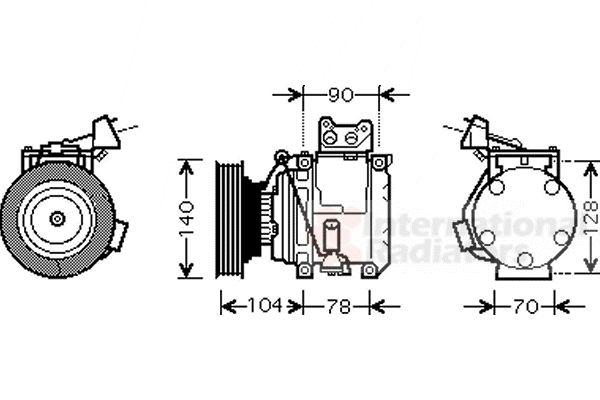 Compresseur, climatisation - VAN WEZEL - 5300K438