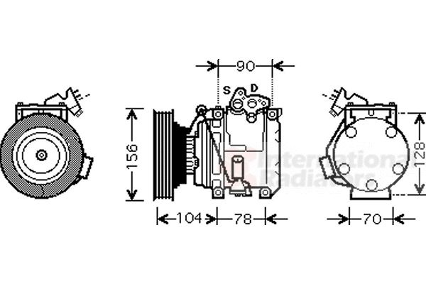 Compresseur, climatisation - VAN WEZEL - 5300K439